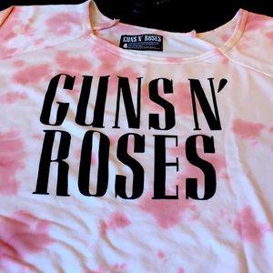 "TORRID ""GUNS AND ROSES"" PINK SWEATSHIRT"